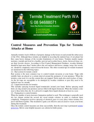 Termite treatment perth wa