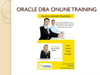 Oracel dba online training hydrabad