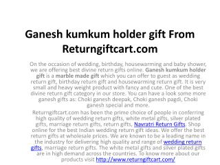 Ganesh kumkum holder gift From Returngiftcart.com