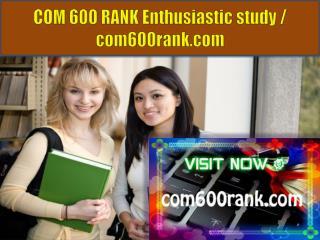 COM 600 RANK Enthusiastic study / com600rank.com