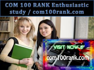 COM 100 RANK Enthusiastic study / com100rank.com