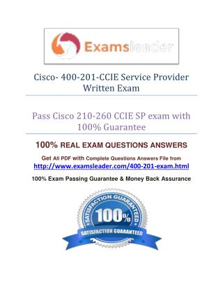 400-201 Exam Q&A