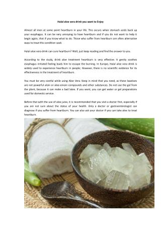 Halal aloe vera drink you want to Enjoy