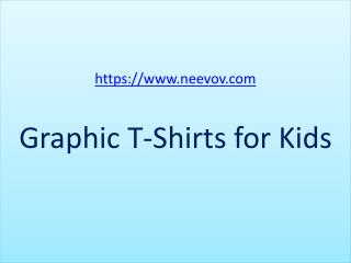 Red Colour Kids Funny Graphic Cotton T Shirts