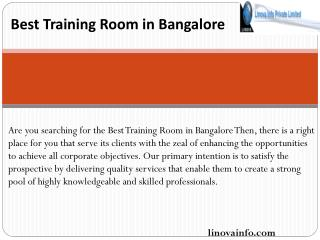 Best Training Room in Bangalore