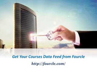 Get Your Courses Data Feed from Fourcle