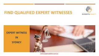 Find Qualified Expert Witnesses