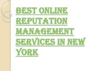 New York Best Online Reputation Management Service Provider