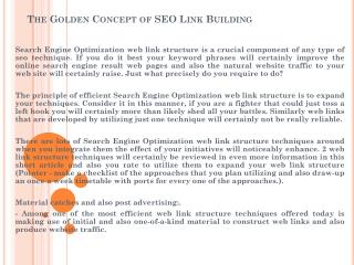 The Golden Concept of SEO Link Building
