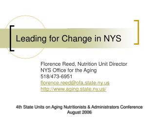 Leading for Change in NYS
