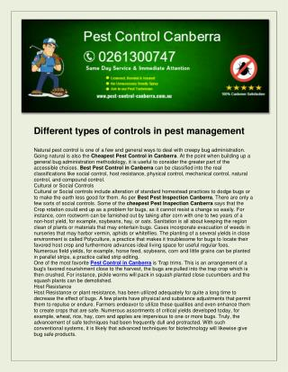 Pest control canberra