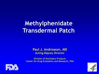 Methylphenidate Transdermal Patch