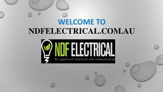 NDF Electrical - Electrical contractors gold coast