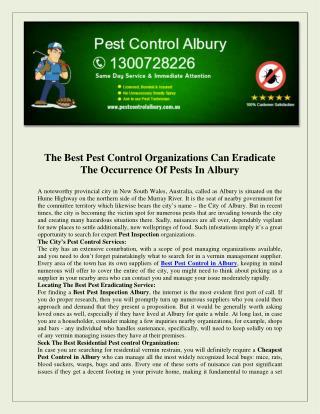 Pest Control Albury