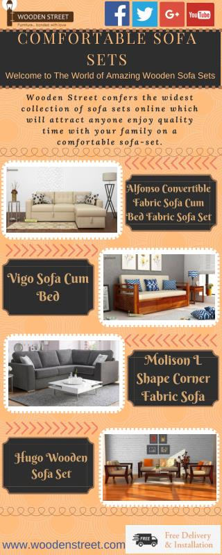 Sofa Sets : Buy Comfortable Sofa Sets Online India