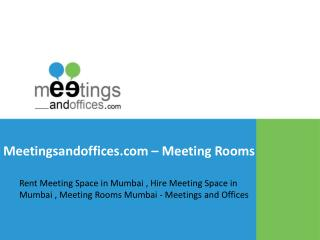Meeting Rooms on Rent - Meetings and Offices