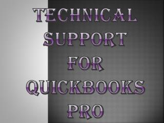 QuickBooks Pro Technical Support Number