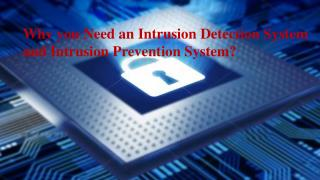 Why you Need an Intrusion Detection System and Intrusion Prevention System?
