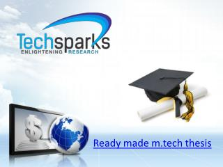 Thesis for m.tech and Thesis writer in chandigarh