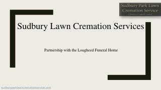 Sudbury Lawn Cremation Services