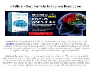 Intelleral Reviews @ http://www.healthsuppfacts.com/intelleral/