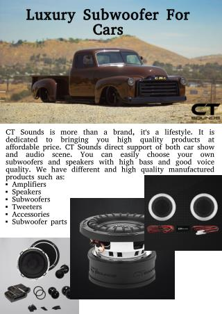 Luxury 1000w RMS Subwoofer for Cars