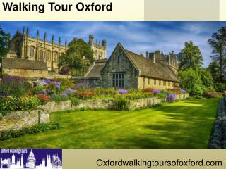 Walking Tour Oxford