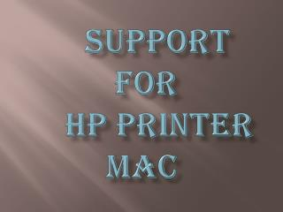 Support For HP Printer Mac