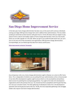 San Diego Home Improvement Service