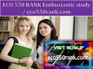ECO 550 RANK Enthusiastic study / eco550rank.com
