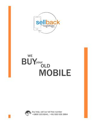 Sell Used Mobile | Sellback.in | Sell Old Mobile