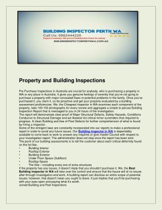 Building inspector perth wa