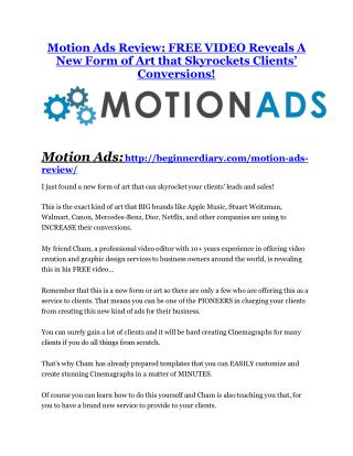 Motion Ads Review and (MASSIVE) $23,800 BONUSES