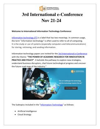 Information Technology Conference