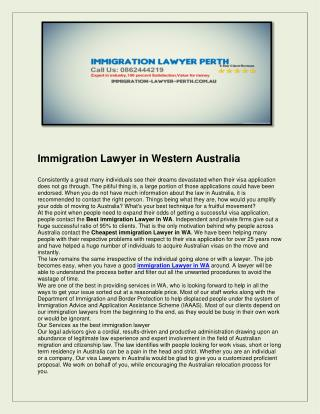 Immigration lawyer perth