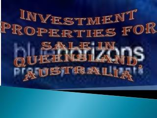 Investment Properties For Sale in Queensland, Australia