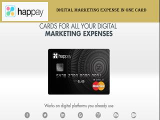 Digital Marketing Expense Card