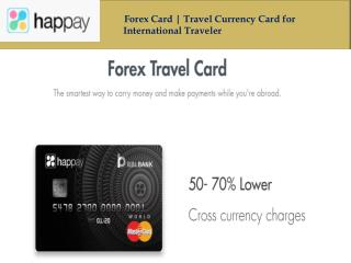 Forex Travel Card | International Travel Card