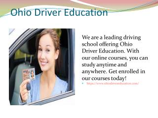Ohio Driver Education