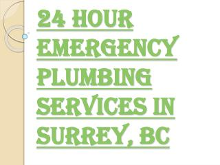 Surrey's Best Emergency Plumbing Services