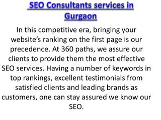 SEO Consultants services in Gurgaon