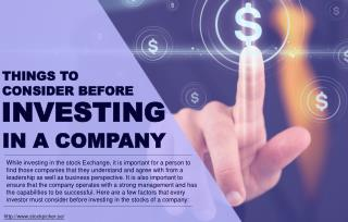 What to consider when choosing a company to invest in
