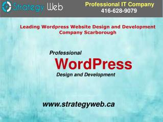 Leading Wordpress Website Design and Development Company Scarborough