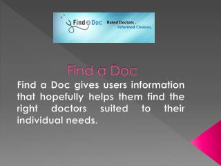 Find a Doc for -Qualified Plastic Surgeon