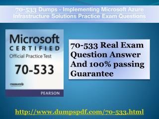 70-533 100% correct Answer By Dumpspdf