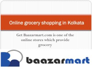 Online grocery shopping in Howrah