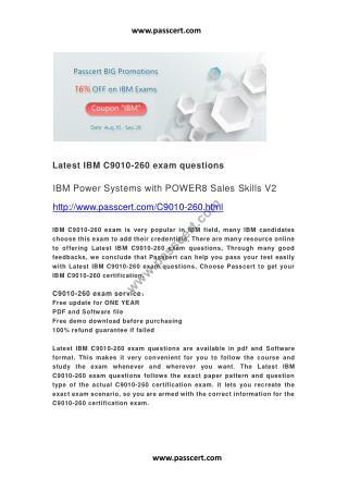 IBM C9010-260 exam questions