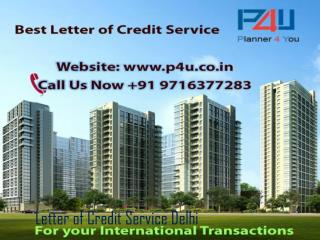 Leading Letter of Credit Service Delhi Call at 9716377283