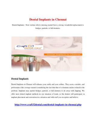 Dental Implants in Chennai