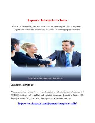 Japanese Interpreter in India